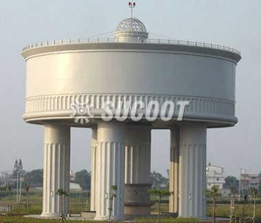 Industrial Park-3000 Tons Water Tower Projects in Taiwan