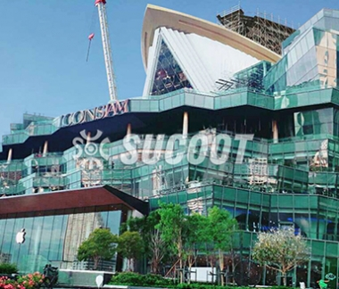 Thailand Iconsiam Department Store pleated glass fa?ade Project